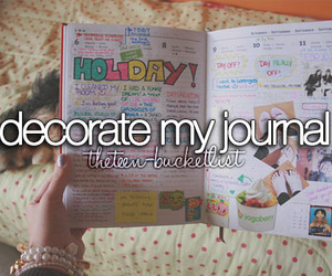 journal, decorate, and bucket list image