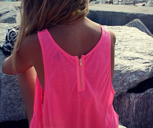 girl, pink, and summer image