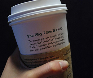 starbucks, coffee, and quote image
