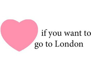 london, heart, and pink image