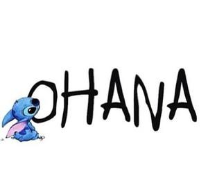 ohana, stitch, and disney image
