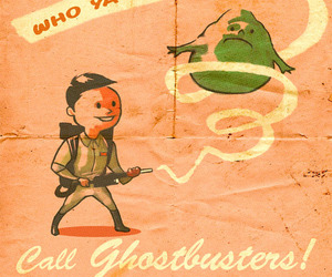 Ghostbusters and illustration image