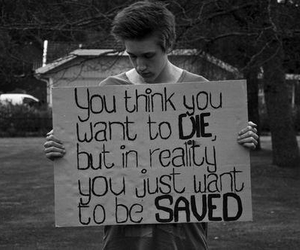 die, saved, and quotes image