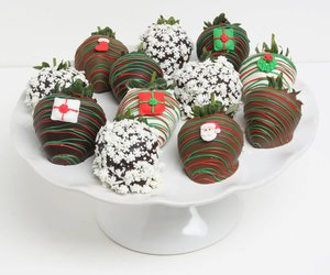 chocolate, strawberries, and christmas image