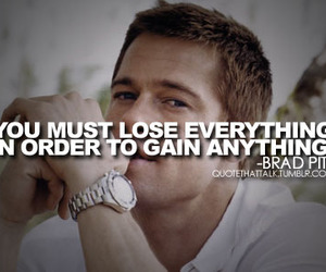 brad pitt, quote, and text image