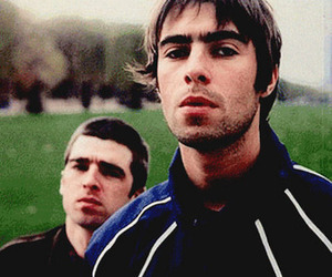 girl, liam gallagher, and noel gallagher image