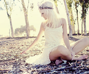 blonde, fashion, and dress image