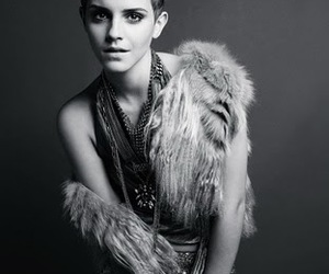 emma watson, pretty, and black and white image