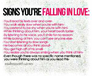 Signs of being in love