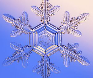 pretty, snow, and snowflake image