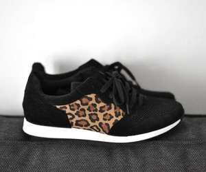 black, leopard, and print image