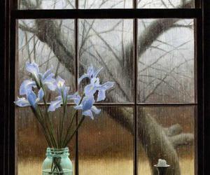 rain, flower, and gif image
