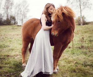 dress, horse, and love image