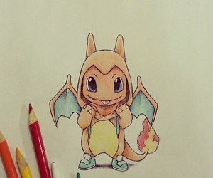 pokemon, charmander, and drawing image