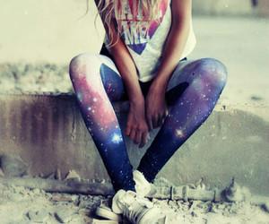 girl, fashion, and galaxy image