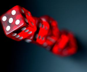 red, dice, and photography image
