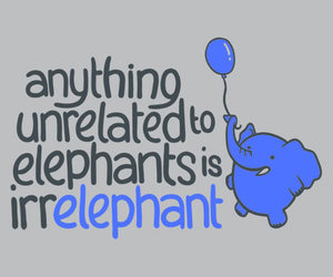 elephant, blue, and quote image