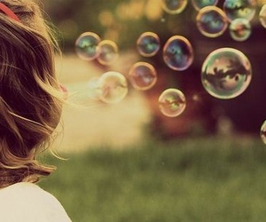 bubbles, burbujas, and little girl image