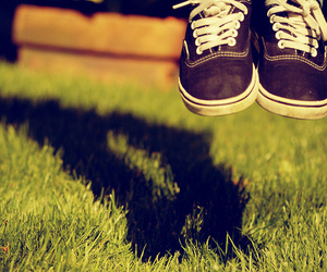 shoes, jump, and grass image