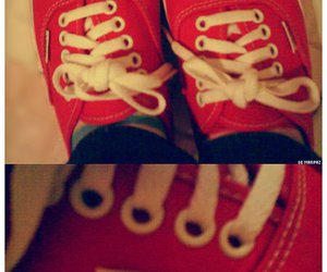 red, tennis, and vans image