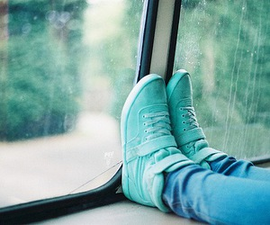 blue, shoes, and rain image