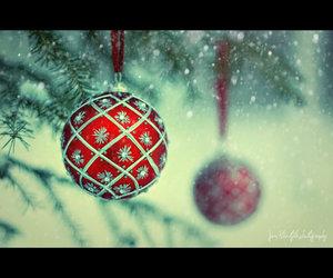ball, christmas, and red image