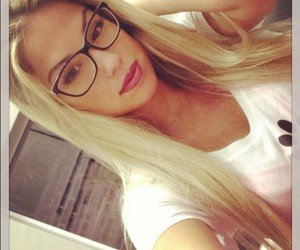 beauty, glasses, and hair image