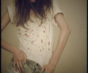 girl, shorts, and thinspo image