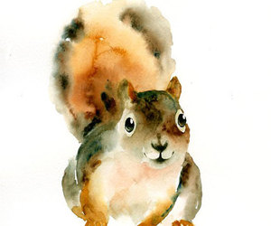 animal, art, and watercolor image