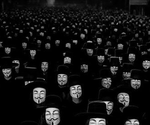 v, v for vendetta, and anonymous image