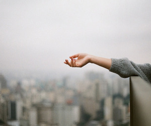 hand, city, and photography image