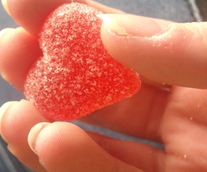 candy heart, heart, and fingers image