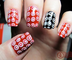 nails, red, and target image