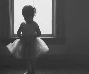 ballet, black and white, and baby image