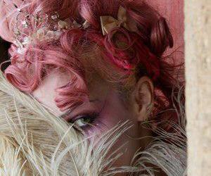 curls, Emilie Autumn, and pink hair image