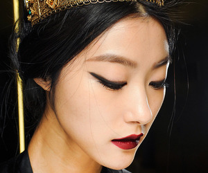 model, crown, and asian image