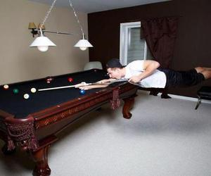 funny picture, playing pool, and pool paying image