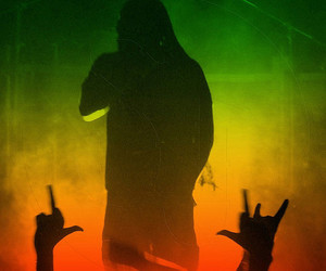 bob marley, concert photography, and dread image