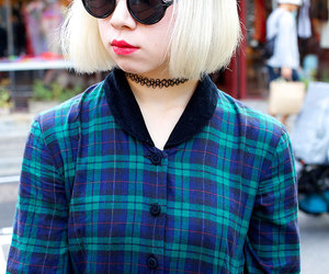 blond, grunge, and blue image