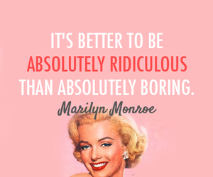 Marilyn Monroe, quote, and pink image