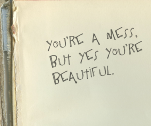 beautiful, mess, and notebook image