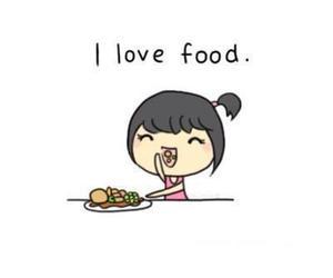 food, love, and girl image