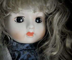 doll, hair, and scary image