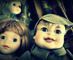 old, doll, and dolls image
