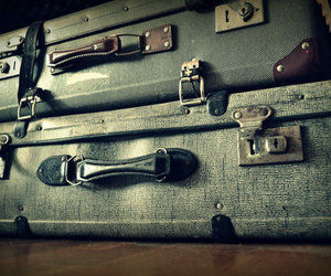 holiday, old, and suitcase image