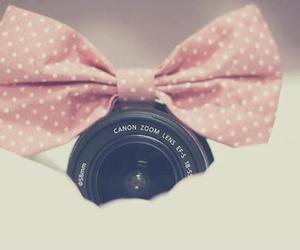 camera, pink, and bow image