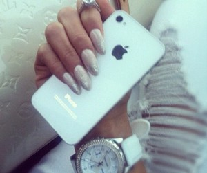 classy, nails, and iphone5 image