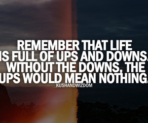 life, quotes, and down image