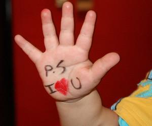 hand, kid, and love image