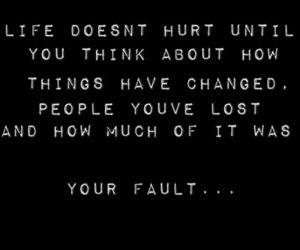 hurt, quote, and life image
